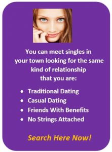 Meet Singles Purple CTA