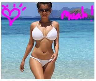 get laid tonight pretty girl on beach walking image